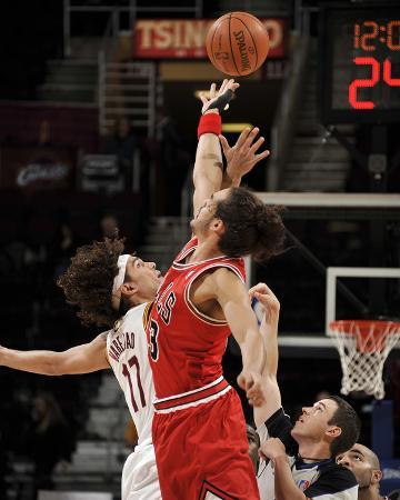 Chicago Bulls v Cleveland Cavaliers: Anderson Varejao and Joakim Noah