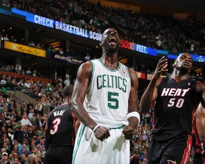 Miami Heat v Boston Celtics - Game Four, Boston, MA - MAY 9: Kevin Garnett