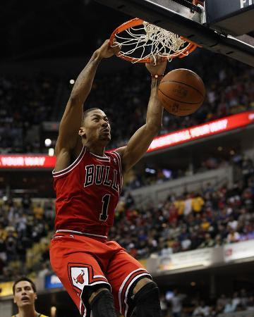 Chicago Bulls v Indiana Pacers - Game Four, Indianapolis, IN - APRIL 23: Derrick Rose