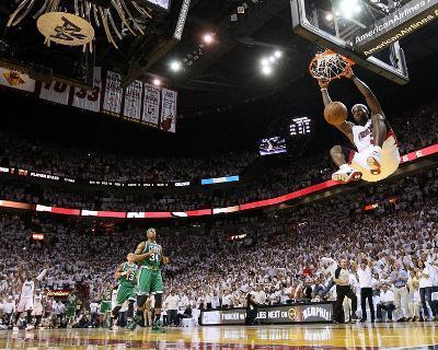 Boston Celtics v Miami Heat - Game Five, Miami, FL - MAY 11: LeBron James