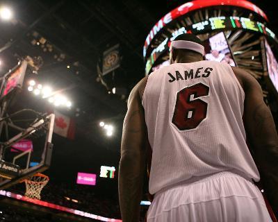 Chicago Bulls v Miami Heat - Game Four, Miami, FL - MAY 24: LeBron James