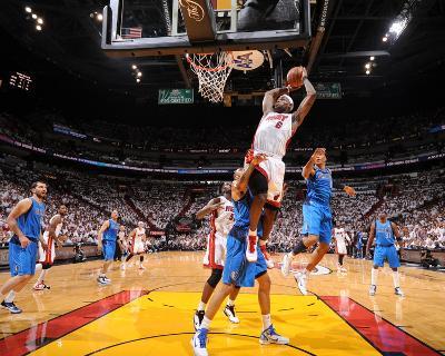 Dallas Mavericks v Miami Heat - Game Two, Miami, FL - JUNE 2: LeBron James, Tyson Chandler and Shaw