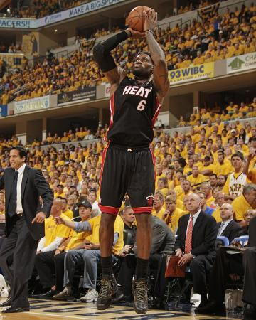 Indianapolis, IN - May 24: Miami Heat and Indiana Pacers - LeBron James