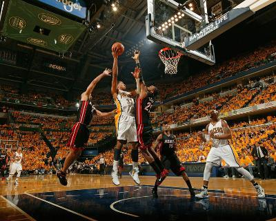 Indianapolis, IN - May 24: Miami Heat and Indiana Pacers - Danny Granger and Ronny Turiaf
