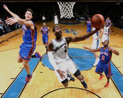 New York Knicks v Washington Wizards: John Wall, Danilo Gallinari and Raymond Felton