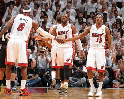 Miami, FL - June 20: LeBron James and Mario Chalmers