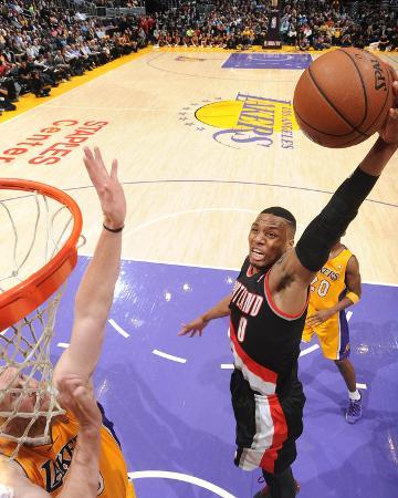 Apr 1, 2014, Portland Trail Blazers vs Los Angeles Lakers - Damian Lillard