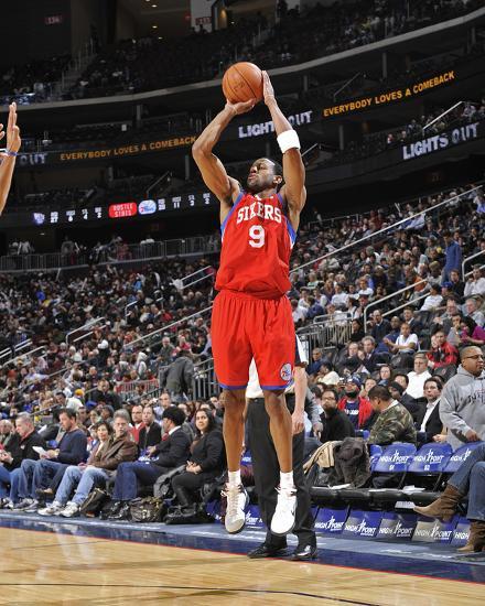 Philadelphia 76ers v New Jersey Nets  Andre Iguodala Photo by David Dow at  AllPosters.com 8c6d1c69b