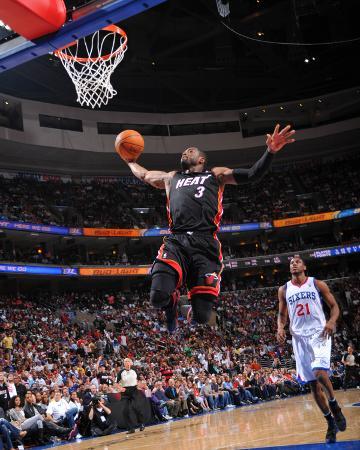 Miami Heat v Philadelphia 76ers - Game Four, Philadelphia, PA - April 24: Dwyane Wade