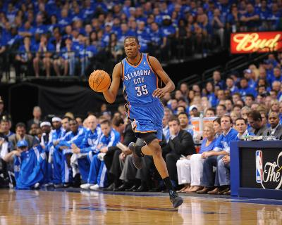 Oklahoma City Thunder v Dallas Mavericks - Game One, Dallas, TX - MAY 17: Kevin Durant