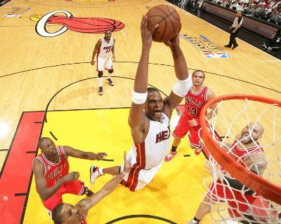 Chicago Bulls v Miami Heat - Game Three, Miami, FL - MAY 22: Chris Bosh