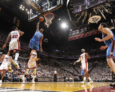 Miami, FL - June 21:  Miami Heat and Oklahoma City Thunder Game Five, Kevin Durant and Udonis Hasle