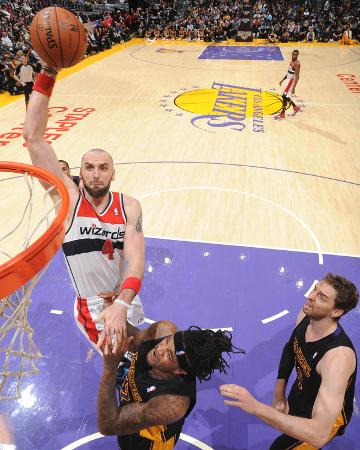 Mar 21, 2014, Washington Wizards vs Los Angeles Lakers - Marcin Gortat