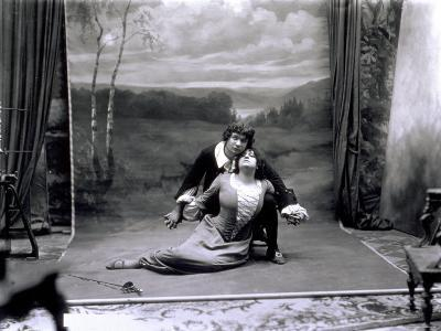 Portrait of a Couple of Singers During the Studio Reconstruction of the Opera 'Manon'