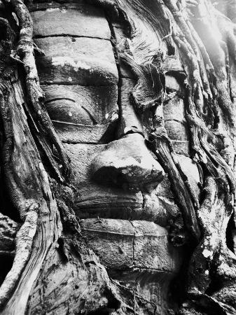 Stone Face of the Temple Ta Som and Angkor in Cambogia