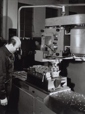 Ferrari Factory, Worker Operating a Machine