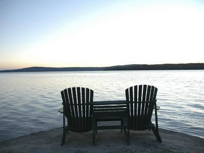 Waiting for the End of the Day, Chairs at Lake Mooselookmegontic, Maine