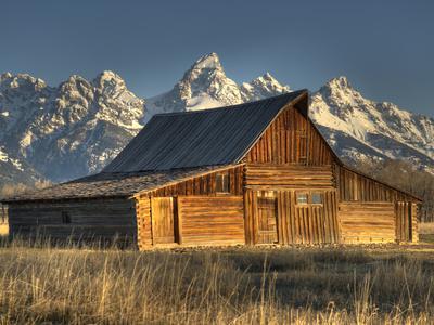 Sunrise at the Mormon Row Barn in Wyoming's Grand Teton National Park