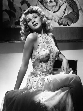 "Rita Hayworth. ""Tuesday's Orchids"" 1942, ""You Were Never Lovelier"" Directed by William A. Seiter"