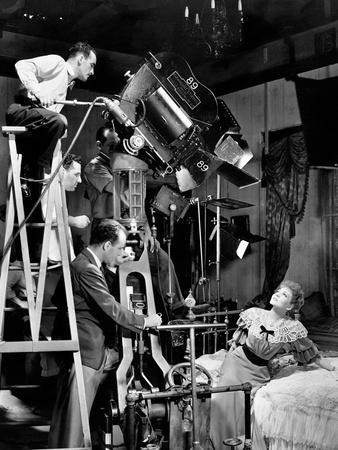 "Claudette Colbert, George Cukor. ""Zaza"" 1939, Directed by George Cukor"