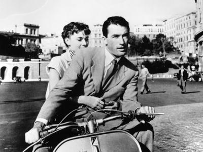 """Audrey Hepburn, Gregory Peck. """"Roman Holiday"""" 1953, Directed by William Wyler"""