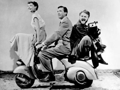 "Audrey Hepburn, Eddie Albert, Gregory Peck. ""Roman Holiday"" 1953, Directed by William Wyler"