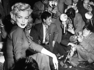 Marilyn Monroe, 1954. Marilyn Monroe In Japan for His Honeymoon With Joe Dimaggio, 1954