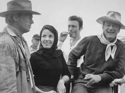 John Wayne, Richard Widmark, Laurence Harvey, Linda Cristal, The Alamo, 1960