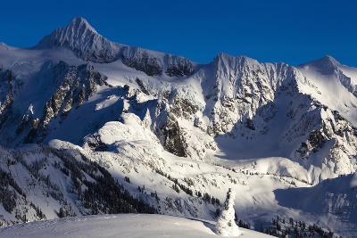 Brilliant Late Afternoon Light Shining across Mount Shuksannear Mount Baker Ski Area, Washington
