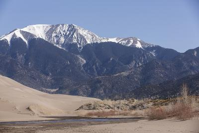 Medano Creek Flowing Along the Edge of the Dune Field at Great Sand Dunes National Park, Colorado
