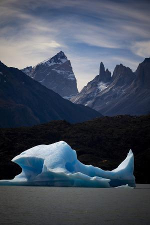 Icebergs in Lago Grey in the Torres Del Paine National Park, Patagonia, Chile