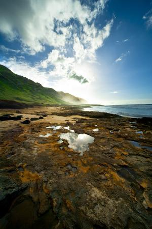 Oahu, Hawaii: Watching the Sunset at Hidden Beach Located on the Northeast Shore of Oahu