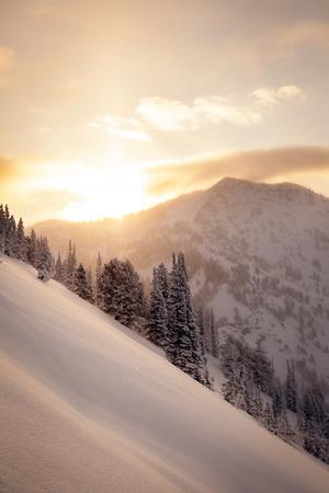 Winter Sunrise over Patsy Marley, Alta, Utah
