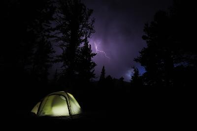 Tent in Thunder Storm Near Mt Evans, Colorado