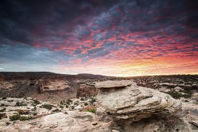 Sunset at Canyon Near Moab, Utah