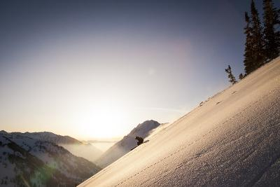 A Young Skier Races the Sun at Alta, Utah