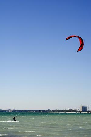 Kitesurfing in Miami, Florida