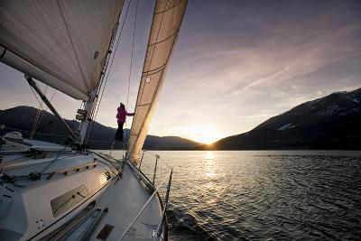 Sailing on Kootenay Lake, British Columbia, Canada