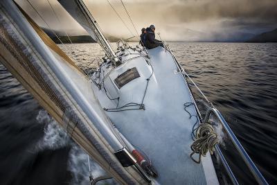 Sailing on Kootenay Lake, British Columbia
