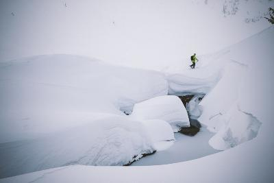 A Young Male Skier Skins Up for Another Run in the Cascade Backcountry of Washington