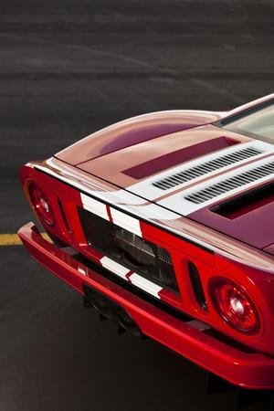 A Close Up of the Back of a 550 Horsepower Ford Gt Supercar on San Juan Island in Washington State