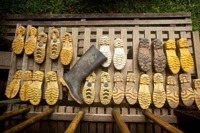 Rubber Boots Dry Out at a Lodge in Tambopata Reserve in Peru's Amazon Basin