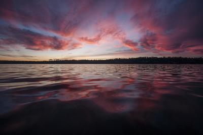 Sunset over Lake Washington. Seattle, Washington
