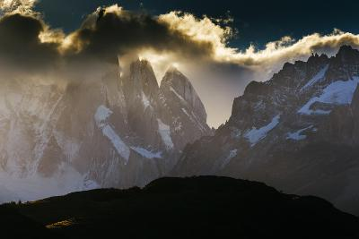 Sunset over the Cerro Torre Spires in Los Glacieres National Park, Argentina