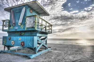 South Beach Miami: a Lifeguard Stand on South Beach During a Sunrise