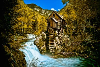 Crystal Mill Is an Old Ghost Town High Up in the Hills of the Maroon Bells, Colorado