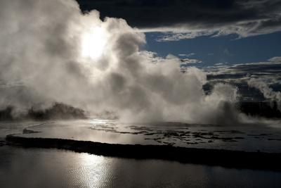 Yellowstone, Wyoming: Reflections of the Sky in the Pools of the Great Fountain Geyser