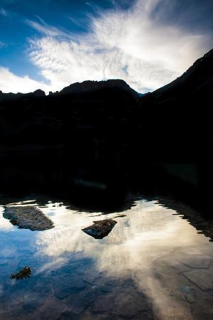Ice Lake Basin, Co: Cloudy Blue Skies Reflect Off of Ice Lake