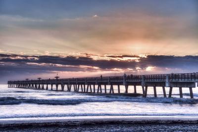 Jacksonville, Florida: Early Morning Fisherman Enjoying the Sunrise
