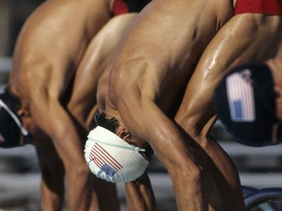 Swimmers Starting a Race